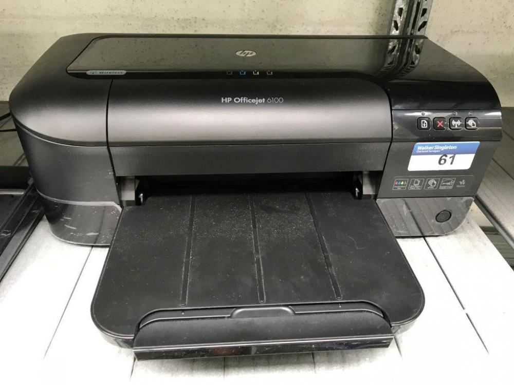 Lot 61 Of 141 HP Office Jet 6100 Wireless Printer Serial Number CN4777512D