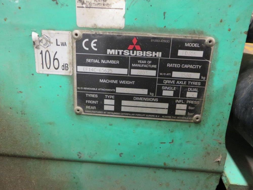 MITSUBISHI FD35K Counter Balance Diesel Forklift Truck
