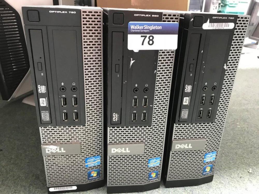 1 x DELL OptiPlex 990 and 2 x Dell OptiPlex 790 Desktop