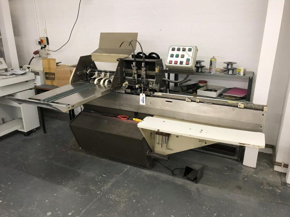 Camco Rosback Model Crs103 Gathering Twin Head Stitching And Trimming Machine Serial Number Crs 203 131 Year 1988 Price Estimate